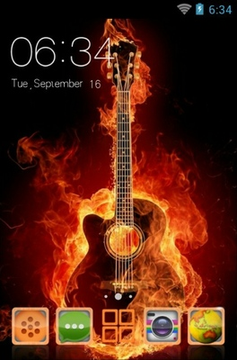 android theme 'Guitar'