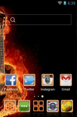 Guitar android theme home screen