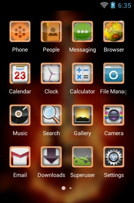 Guitar android theme application menu
