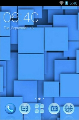 android theme 'Blue Squares'