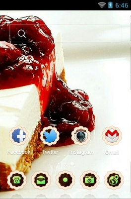 Cake android theme home screen