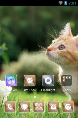 Cute Cat android theme home screen