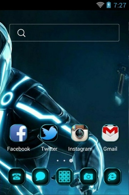 Tron android theme home screen