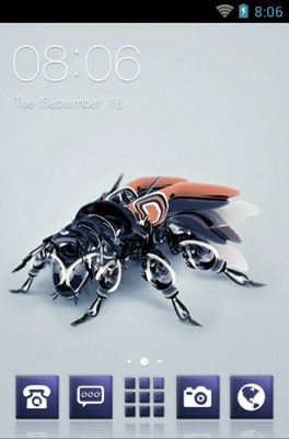Robotic Fly android theme