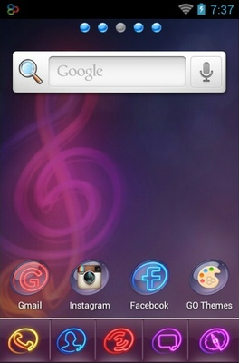 Colorlight android theme home screen