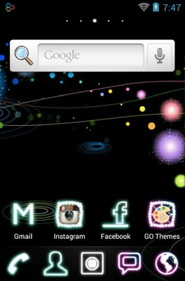 Galaxys android theme home screen