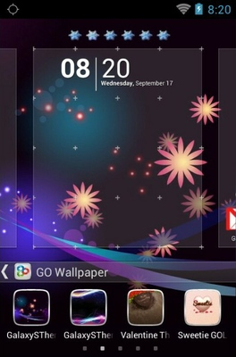 Galaxys android theme wallpaper
