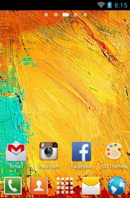 Galaxy Note 3 android theme home screen