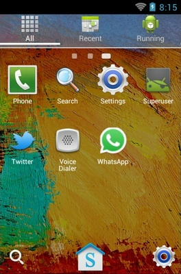 Galaxy Note 3 android theme application menu