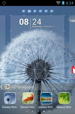 Galaxy Note 3 android theme wallpaper