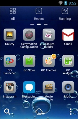 Underwater Bubbles android theme application menu