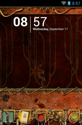 Steampunk android theme