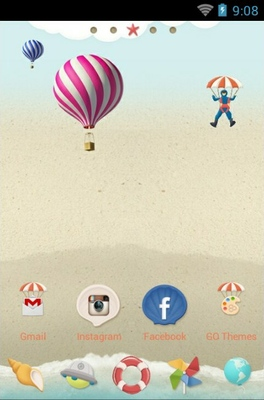 Summer android theme