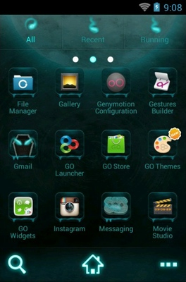 His Head android theme application menu