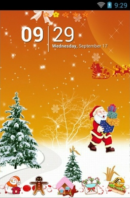 android theme 'Happy Christmas'