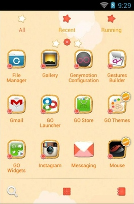 Z Cute android theme application menu