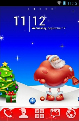 android theme 'Lovely Santa'