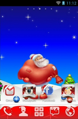 Lovely Santa android theme home screen