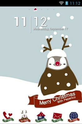 Peoerico christmas android theme home screen