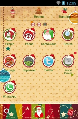 Christmas Tree android theme application menu