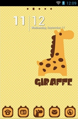 Giraffe android theme
