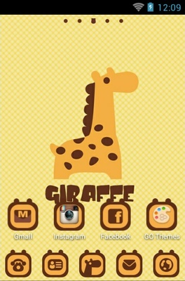 Giraffe android theme home screen