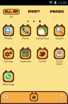 Giraffe android theme application menu