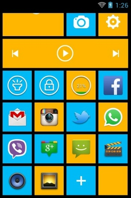 Win8 android theme home screen