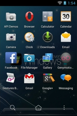 Windows android theme application menu