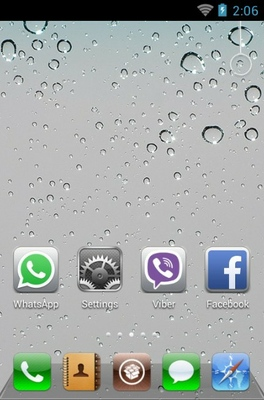 iPhone android theme home screen