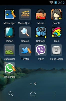 Miss android theme application menu
