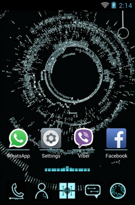 Electronic android theme home screen