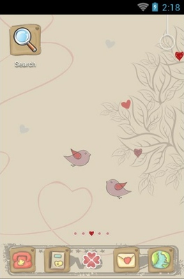 android theme 'Love Tree'