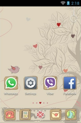 Love Tree android theme home screen