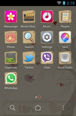 Love Tree android theme application menu