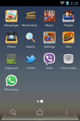 Box android theme application menu