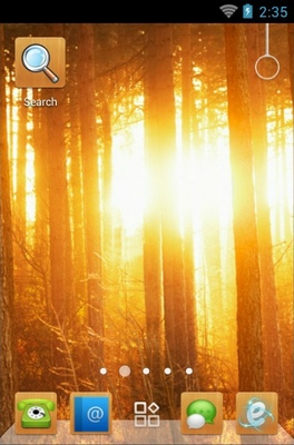 android theme 'Sunshine In Woods'