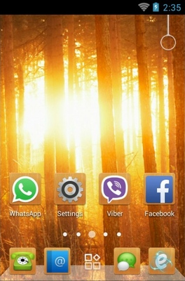 Sunshine In Woods android theme home screen