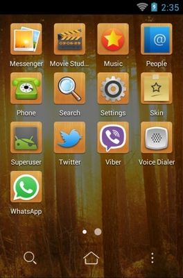 Sunshine In Woods android theme application menu