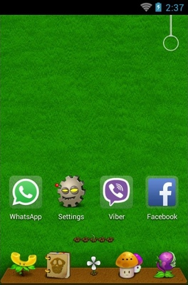 Plant VS Zombie android theme home screen