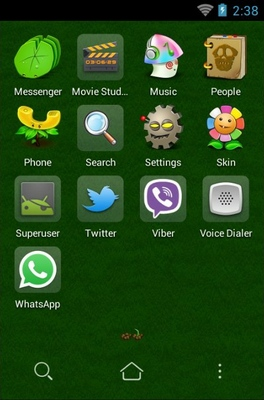Plant VS Zombie android theme application menu