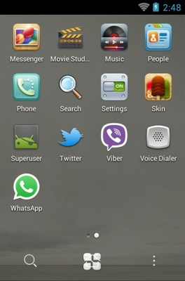 2013 android theme application menu