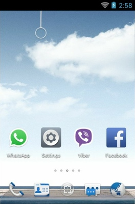Sea Breeze android theme home screen