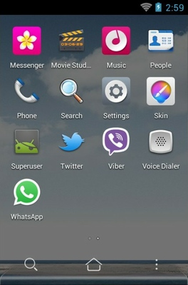 Sea Breeze android theme application menu