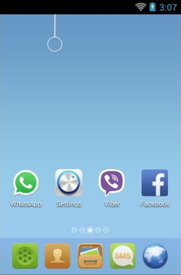 ME android theme home screen