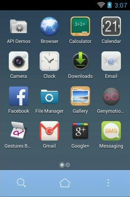 ME android theme application menu