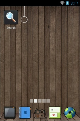 Wooden home android theme