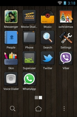 Wooden home android theme application menu