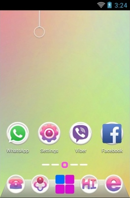 Illusion android theme home screen