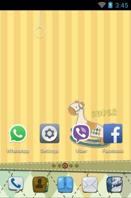 Wooden Horse android theme home screen